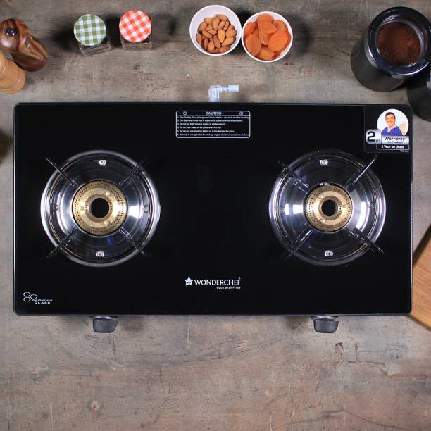 WONDERCHEF Zest Glass, Stainless Steel Manual Gas Stove