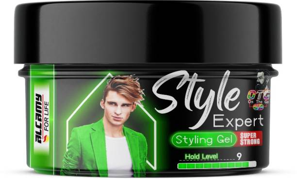 Alcamy Style Expert Super Strong Styling Gel (Hold Level 9/10) Hair Gel