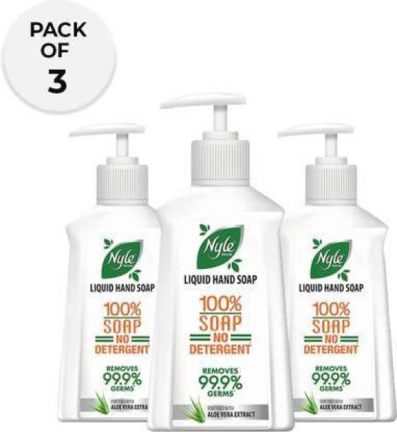 Nyle Natural Liquad Hand Soap ALOEVERA Hand Wash Pump Dispenser