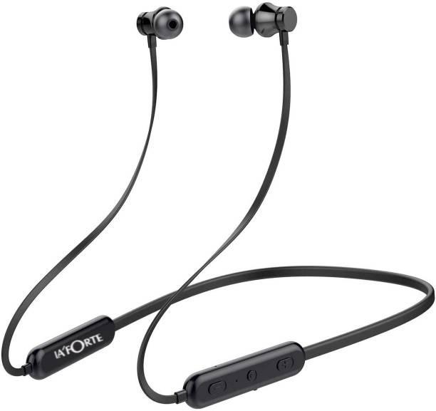 LA'FORTE Neckband Wireless Earphone- Bolt,Noise Cancelation,Inbuilt Mic Bluetooth Headset