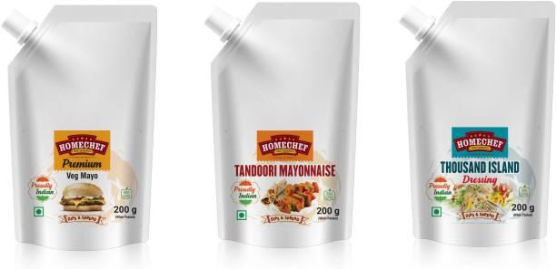 HOMECHEF Premium veg mayonnaise tandoori mayonnaise thousand island sauce for sandwich Burger pizza combo mayo topping Sauces & Ketchup