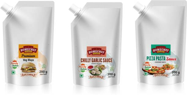 HOMECHEF Premium veg mayonnaise chilly garlic momo sauce pizza pasta sauce for sandwich Burger pizza combo mayo topping Sauces & Ketchup