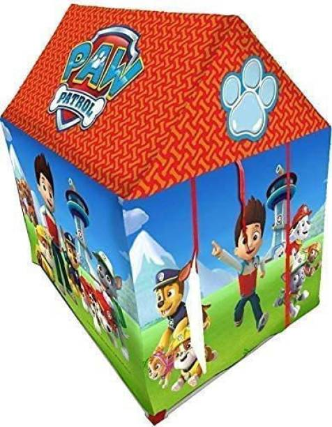 KRISHI TRADEBOOK Jumbo Size Extremely Light Weight , Water Proof Kids Play Tent House for 10 Year Old Girls and Boys (Paw petrol tent house) (Multicolor)