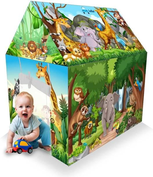 FunBlast Jungle Home Jumbo Size Tent House for Kids - 3.6 Feet Tall Kids Play Tent House