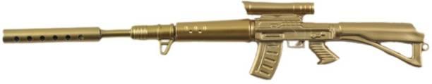 Rack Jack Rifle Gun Pen - Gold Colour - Made of Plastic Ball Pen