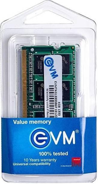 EVM EVMT4G1333S86P DDR3 4 GB (Dual Channel) Laptop (Memory Module 1333mhz DDR3 4 GB Laptop (EVMT4G1333S86P) Ram)