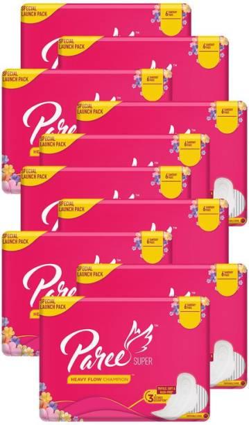 Paree Super Regular Tri-Fold - 6 Pads (Combo of 10) Sanitary Pad