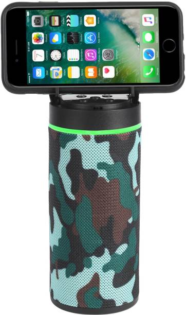 FRAONY Powerful sound quality stereo bass mini dynamite with inbuilt mobile stand support TF card & AUX splashproof wireless 10 W Bluetooth Speaker