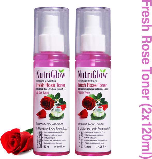 NutriGlow Fresh Rose TonerWith Natural Rose Extract And Vitamin A, C & E Men & Women