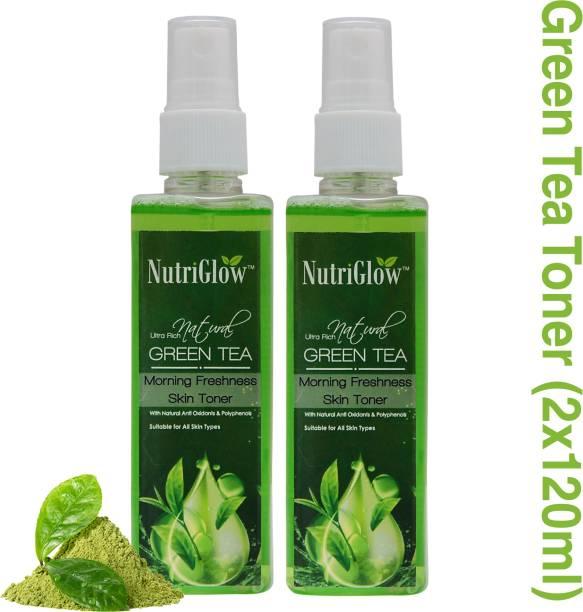 NutriGlow Green Tea Toner (Pack of 2) Men & Women