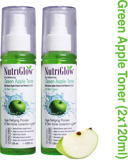NutriGlow Green Apple Toner With Green Apple Extract and Vitamin A, C & E Men & Women