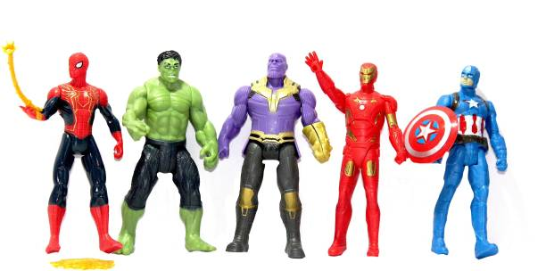 WOW toys Super Hero's Action Figures || Pack of 5 figures||