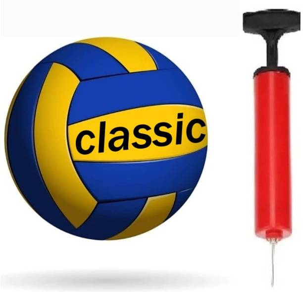 Seven Star Sports classic volley-18 with pump Volleyball - Size: 4