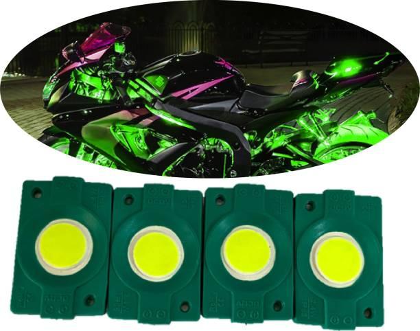 hjg Sunny Day Green IMPORTED PATCH LIGHTS (Front/Rear , Bike Body Lights) - PACK OF 4 - IP65 WATERPROOF DUSTPROOF SHOCKPROOF - Universal Brake Light, Parking Light, Indicator Light, Back Up Lamp Motorbike, Car, Van, Truck LED (12 V, 1.5 W)
