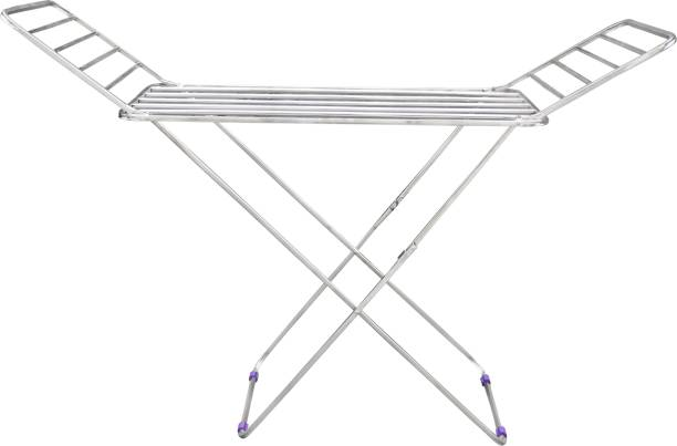 Unizone Steel Floor Cloth Dryer Stand Foldable Medium Square Pipes Palang Stand
