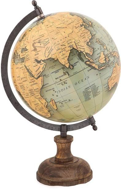 DawnRays Gold World Globe 8 Inches Diameter Desk Top Old World World Globe