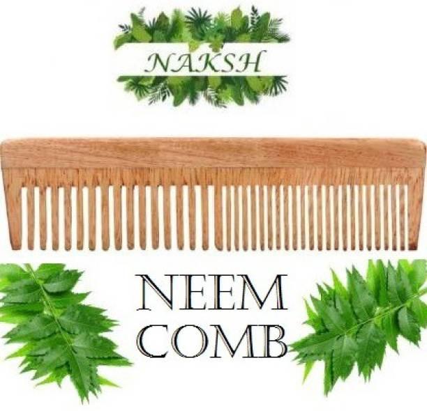 NAKSH Neem Wood Combs 100% Natural And Handmade, Anti- Dandruff Comb