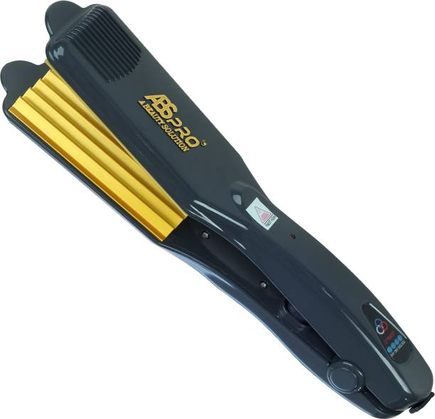 Abs Pro Professional Hair Crimper With 4 X Protection Coating Gold Women's Crimping Styler Machine for Hair Saloon 4 X Protection Gold Coating Electric Hair Styler Corded Crimper Electric Hair Styler Electric Hair Styler