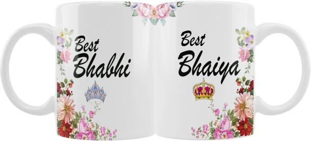 iMPACTGift Best Bhaiya & Best Bhabhi Couple gift for Bhai Bhabi 416 Ceramic Coffee Mug