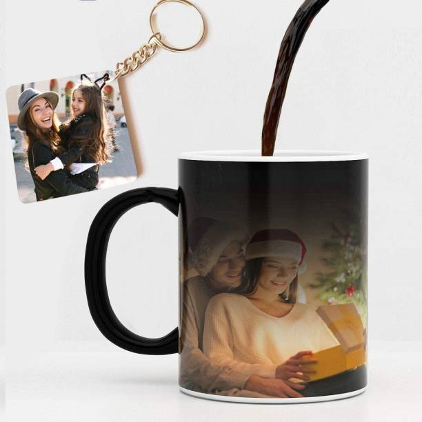 RichChoice Ceramic Photo Black Magic with Keychain - 1 Keychain, Black Magic, 330 ml Ceramic Coffee Mug
