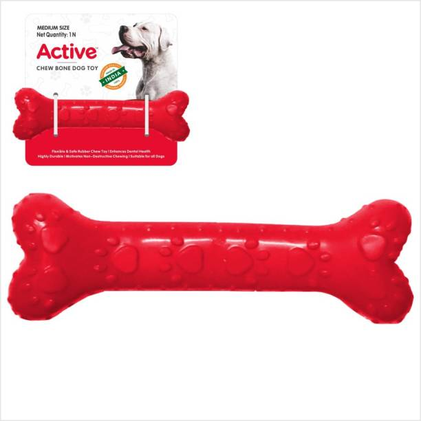 Active 5 inches Chew Toy Rubber Bone For Dog