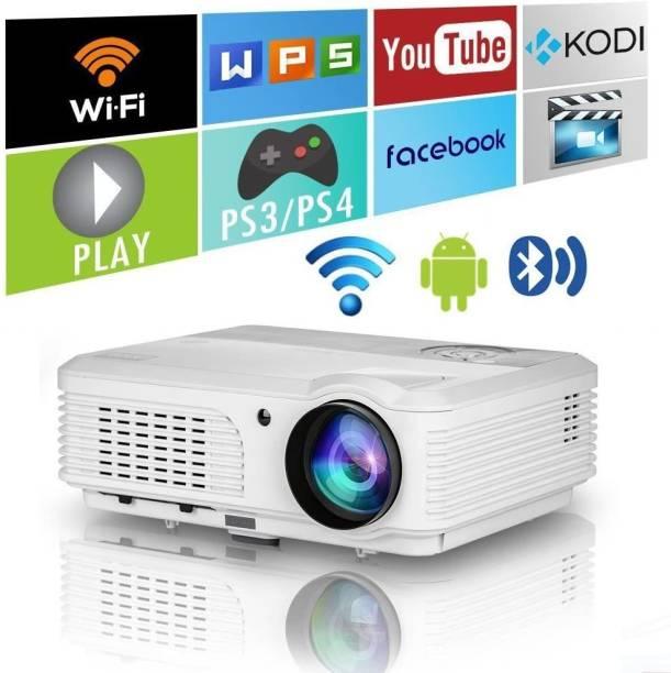 IBS ANDROID 6.0 YOUTUBE NETFLIX HD LED 3D Projector 5000 Lumens, HDMI USB VGA AV, 1280*720P (5000 lm) Portable Projector
