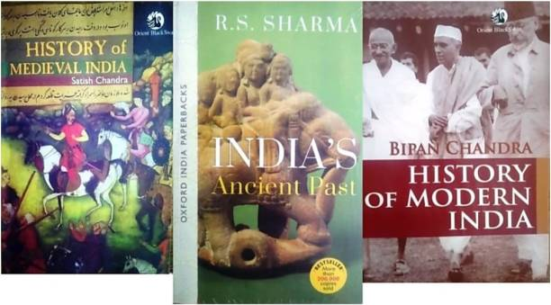 History Of Medieval India, India's Ancient Past, Bipan Chandra, History Of Modern India Set Of 3