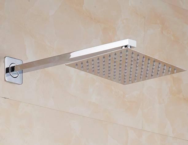 Flipkart SmartBuy 6 X 6 Inches Square Ultra Slim Shower Head with 12 Inches Square Shower Arm Shower Head