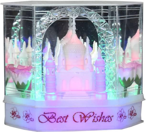 TRYTOKART Taj Mahal Showpiece With Multicolor Lighting Effect Decorative Showpiece  -  15 cm