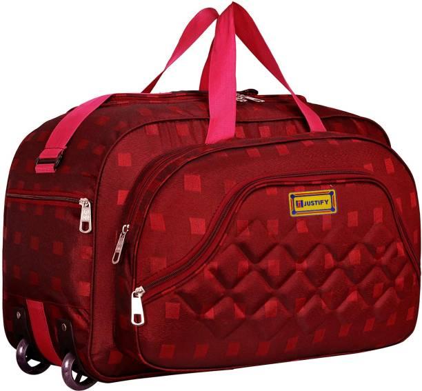 Justify Polyester Waterproof Luggage Duffles Bag with Roller Wheels