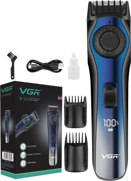 VGR V-080 Cordless Professional Hair Trimmer  Runtime: 120 min Trimmer for Men