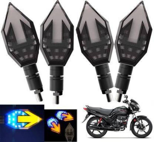 QUIRKY ZONE Front, Rear LED Indicator Light for Hero Passion Pro, Universal For Bike