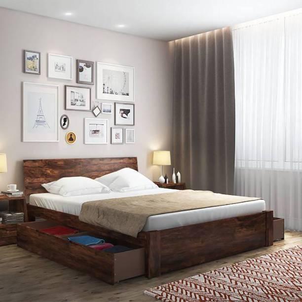 Urban Ladder Solid Wood King Drawer Bed