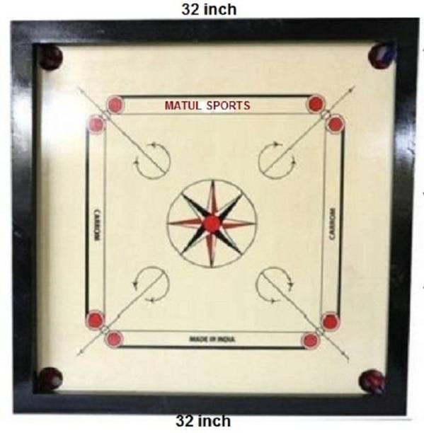 Matul Sports Carrom 32 inch With Ludo board Game 32 cm Carrom Board