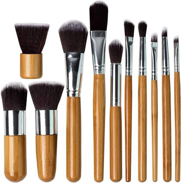 NAKED PLUS Professional Makeup Brush Set (Pack of 11)