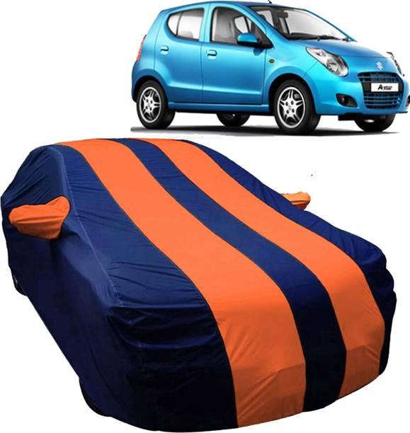 UK Blue Car Cover For Maruti Suzuki A-Star (With Mirror Pockets)