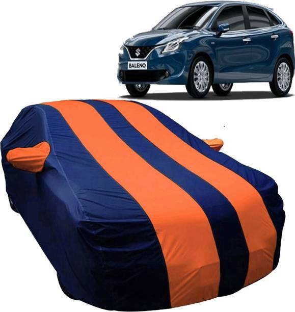 UK Blue Car Cover For Maruti Suzuki Baleno (With Mirror Pockets)