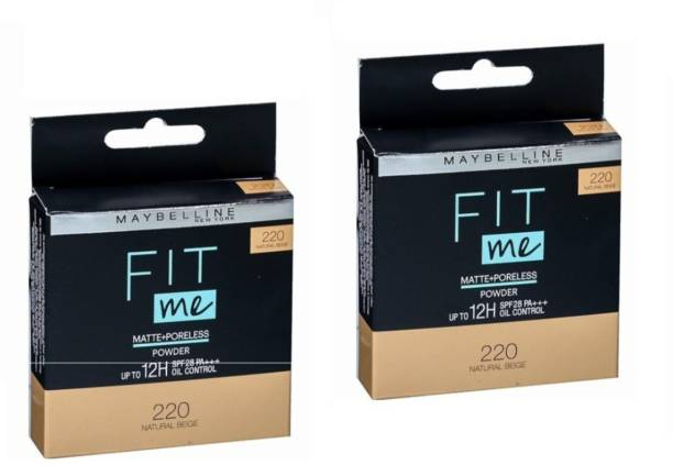 MAYBELLINE NEW YORK 220 NATURAL BEIGE COMPACT POWDER 8G SET OF 2 PCS Compact