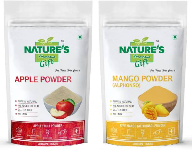 Nature's Precious Gift NATURE'S GIFT - FOR THOSE WHO CARE'S Apple Powder and Mango Fruit Powder - 100 GM Each (Super Saver Combo Pack)