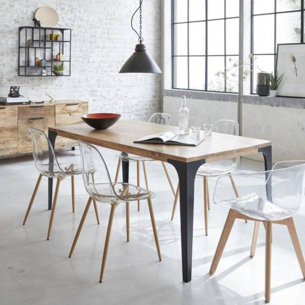 The Attic Solid Wood 6 Seater Dining Table
