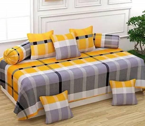 JAAT HUB Cotton Checkered Diwan Set