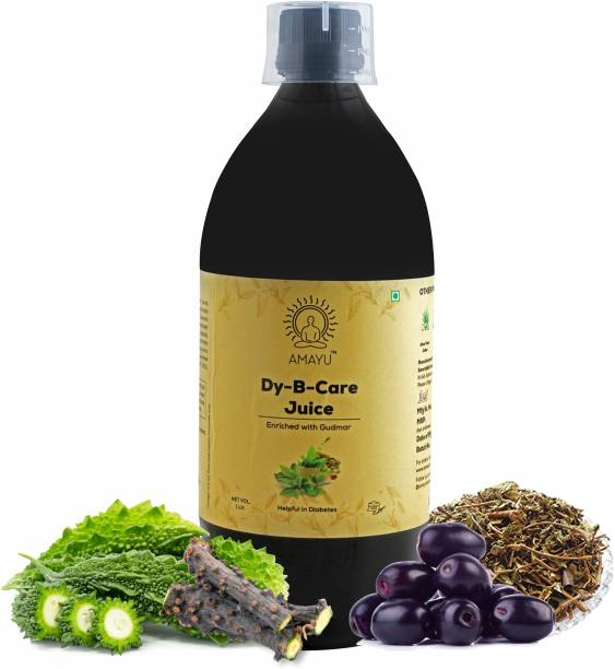 AMAYU Dy-B Care Juice 1 Litre | Karela Jamun Juice for Diabetes | Enriched with Gudmar | Made with 11 Ingredients | Helps Maintain Blood Sugar Levels | No Added Sugar
