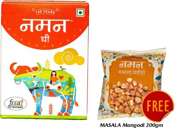 NAMAN Pure Desi Ghee 1 Ltr Pack with Free Masala Mangodi 200gm Ghee 1 kg Carton