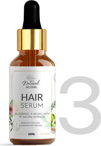 Natural Infusions Hair Growth Serum with 5% Redensyl (Pack of 3)