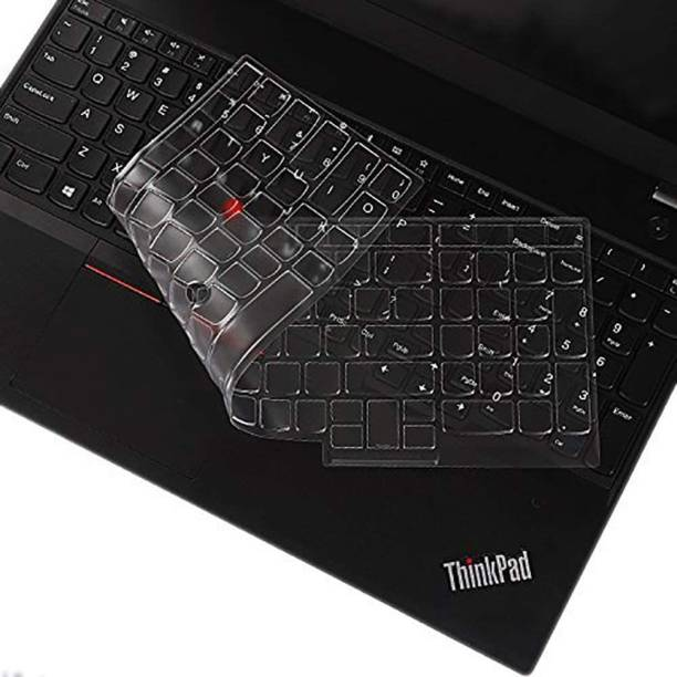 MXVOLT Ultra Thin TPU Keyboard Cover Compatible with 15.6 Inch Lenovo ThinkPad E15 T15 T15p L15 P51s P52 P52s P53 P72 P73/ThinkPad E580 E590 E595 L580 L590/ThinkPad T570 T575 T580 T590, Clear Laptop Keyboard Skin