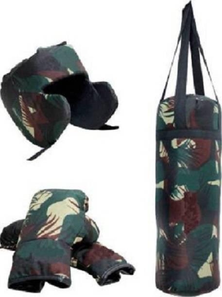 Canari Small multicolor Boxing kit set including Punching bag, head guard and 1 pair Boxing gloves. Boxing Kit