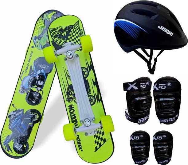 Jaspo Speed Bikers Intact Fiber Beginner Skateboard for 8 yrs & Above Skating Kit
