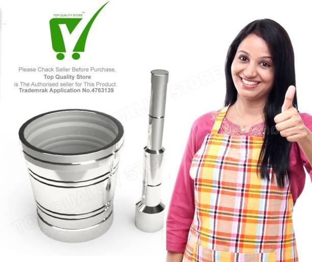Top Quality Store Kitchen Khalbatta Okhli Masher Mortar And Pestle Set Aluminium Masher