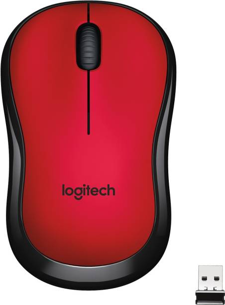 Logitech M221 red silent Wireless Optical Mouse