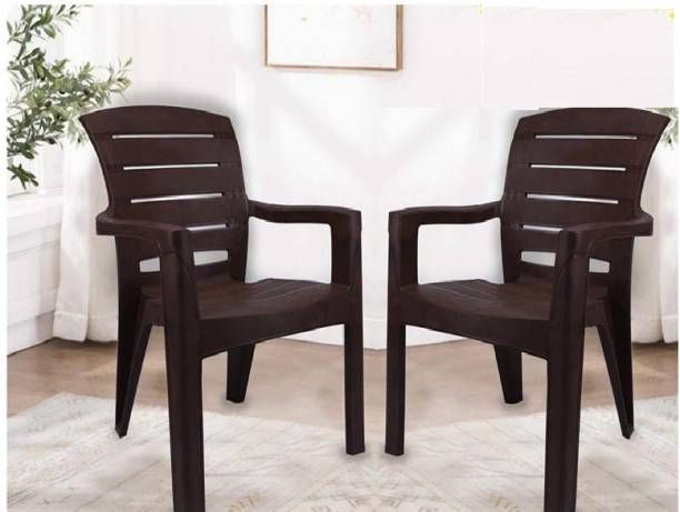 Highway Moulded Spine Care High Back Chair with ( 3 years warranty on manufacturing defect ) Weight Bearing Capacity 200 kg Plastic Outdoor Chair